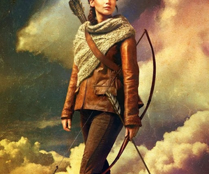 katniss everdeen, catching fire, and hunger games image
