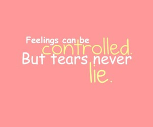 quote, feelings, and lie image