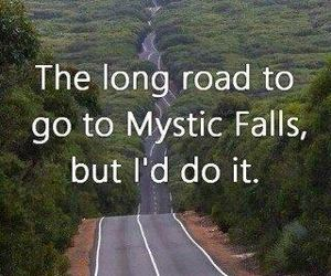 Vampire Diaries, mystic falls, and road image