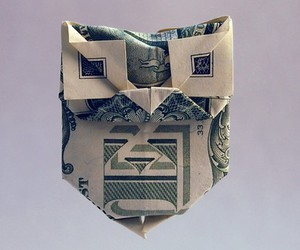 dollar, origami, and etsy image