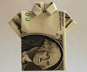 collar, dollar, and origami image
