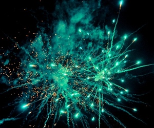 fireworks, blue, and light image