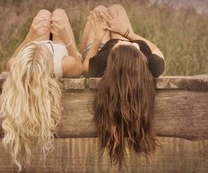 friends, beautiful, and hair image