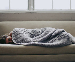 girl, sleep, and blanket image