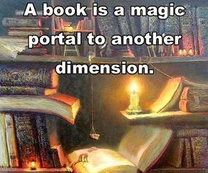 book, magic, and reading image