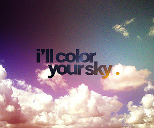 quote, colour, and sky image