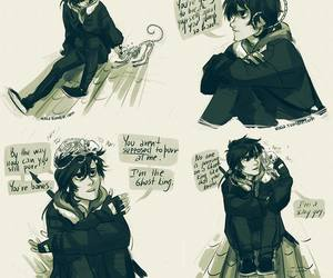 nico di angelo, bones, and cat image