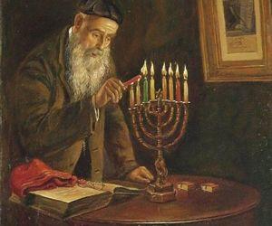 art, hanukkah, and judaism image