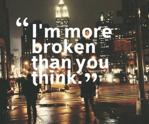 broken, quotes, and think image