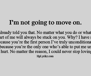 quote, move on, and love image