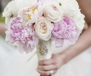 bouquet, flowers, and wedding image