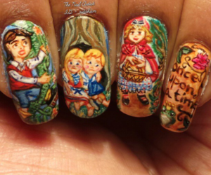 fairytale, green, and nail image