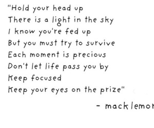macklemore, quote, and life image