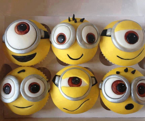 minions, cupcake, and cake image