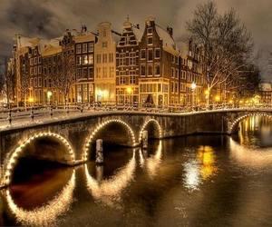 light, amsterdam, and winter image