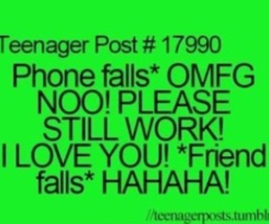phone, friends, and funny image