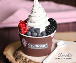 berries, cream, and yum image