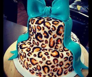 cake, bow, and food image