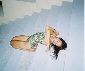 girl, stairs, and skinny image