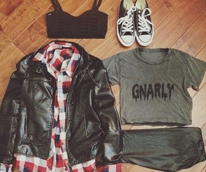 clothes, outfit, and black image
