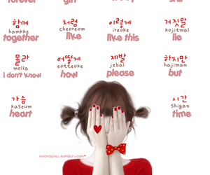 english, language, and korean image