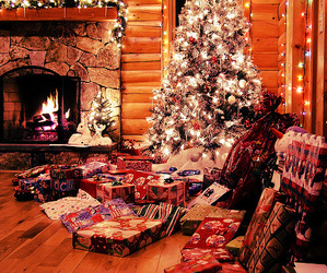 christmas, red, and fire image