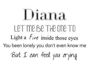 diana, Lyrics, and 1d image