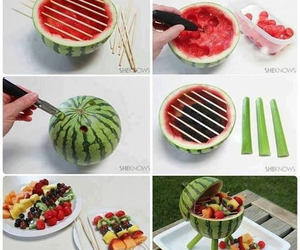 celery, watermelon, and yummy image