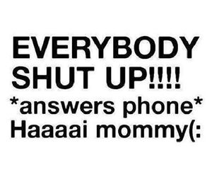 funny, phone, and shut up image