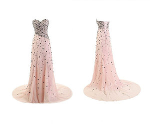 evening dress, pink bridesmaid dress, and pink prom dresses image