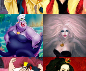 disney, queen of hearts, and the little mermaid image