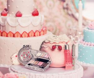 cake, pastel, and cosmetics image