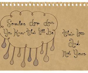 handwriting, rain, and brown paper image