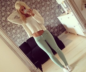 beautiful, blonde, and clothes image