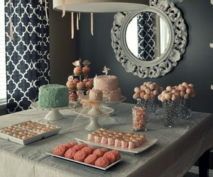 party, pink, and cake image