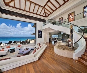 beach, luxury, and staircase image