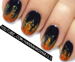 beauty, fire, and nail art image