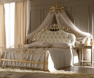 bedroom, bedspread, and curtains image