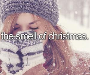 christmas, snow, and smell image
