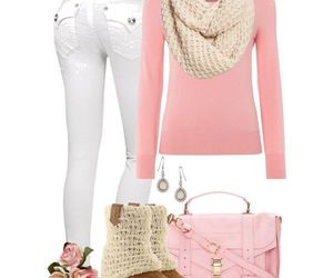 pink, outfit, and fashion image