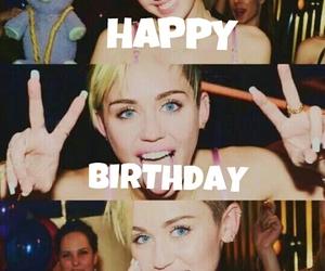 happy birthday and miley cyrus image