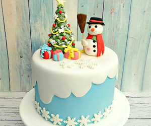 christmas, snowman, and christmas food image