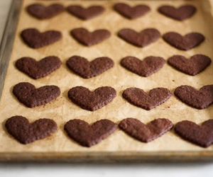 Cookies, heart, and chocolate image