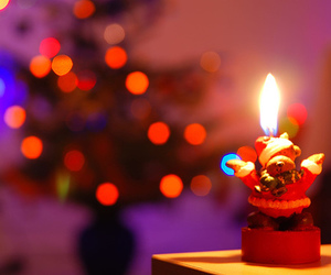 christmas, candle, and lights image