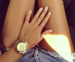nails, girl, and legs image