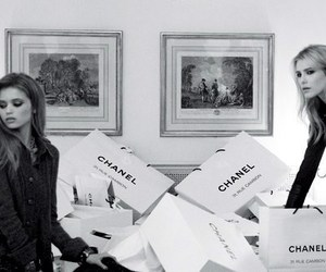 chanel, black and white, and model image
