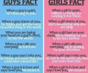 girl, fact, and boy image