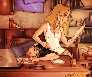 percy jackson, annabeth, and percabeth image