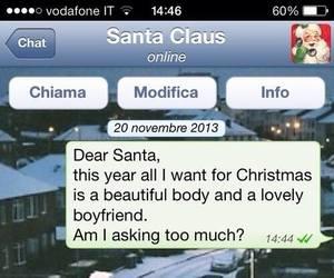 christmas, boyfriend, and santa image