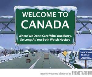 canada, funny, and hockey image